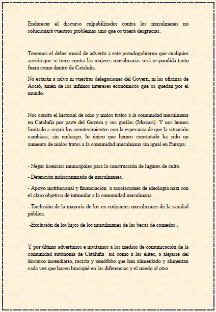 AQMI contra gobierno Cataluña 3