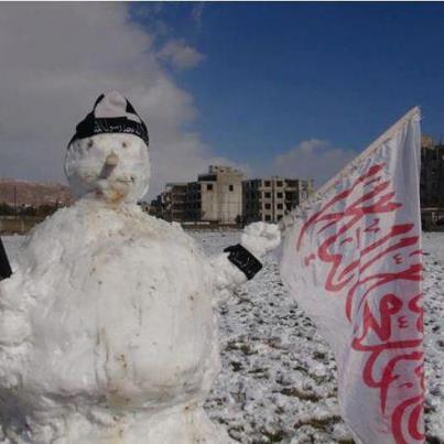Muñeco de nieve yihadista