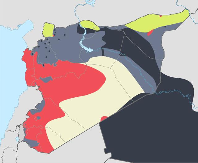 Mapa ISIS 12-01-14