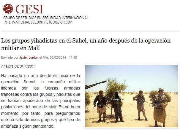 Los grupos yihadistas en el Sahel