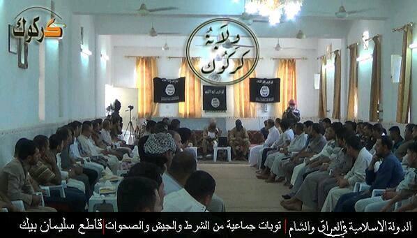 Kirkuk policías y milicianos juran lealtad al ISIS
