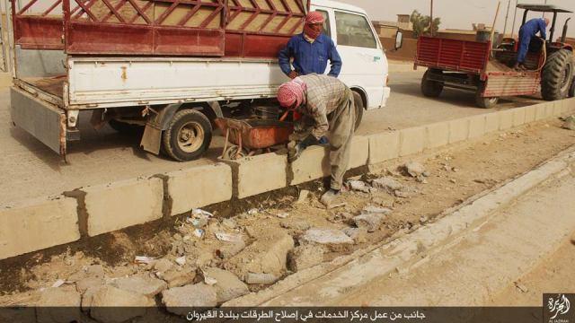 Reparación carreteras en Qairouan 24-11-15