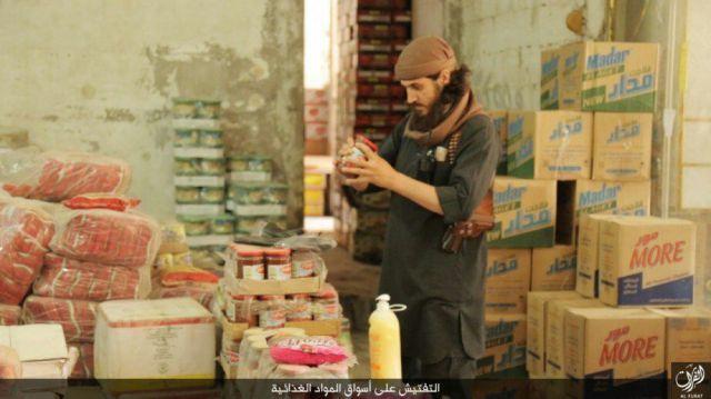 Supervisión e inspección de alimentos en tiendas de Abu Kamal 23-11-15